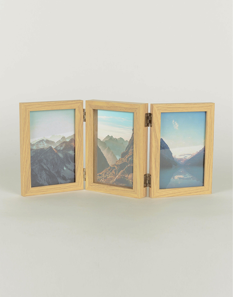 triple wooden frame