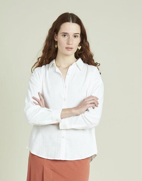 camisa lino mujer