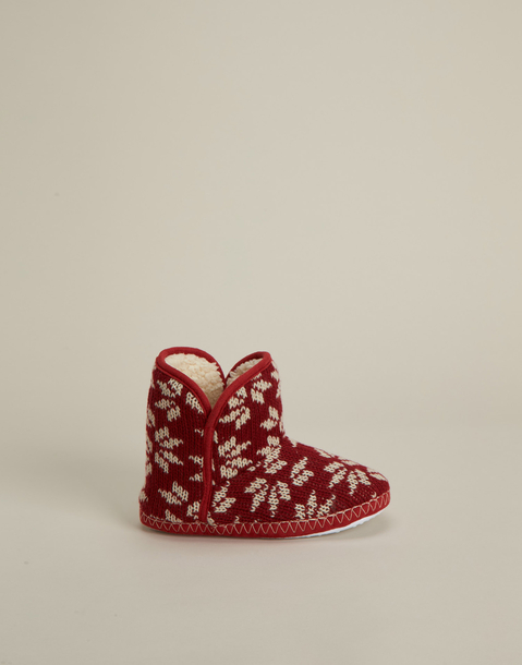 xmas jacquard slipper boot