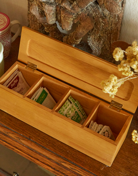 caja para 4 tés bambú