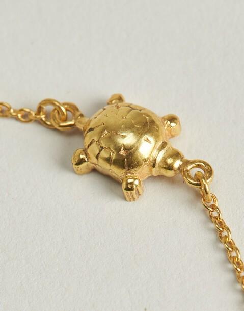 pulsera tortuga baño de oro