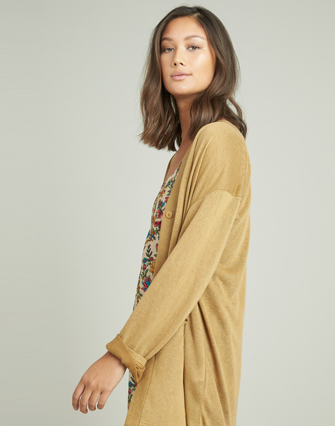 basic button-front cardigan