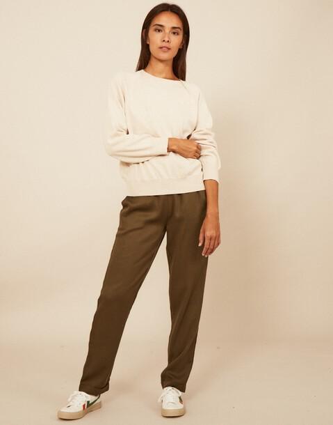 vertical sewing tencel pants