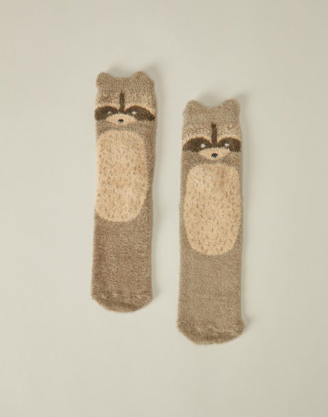 raccoon dots socks