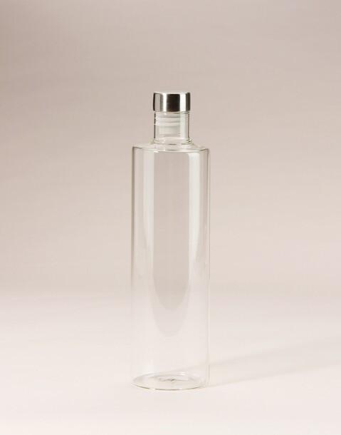round glass bottle