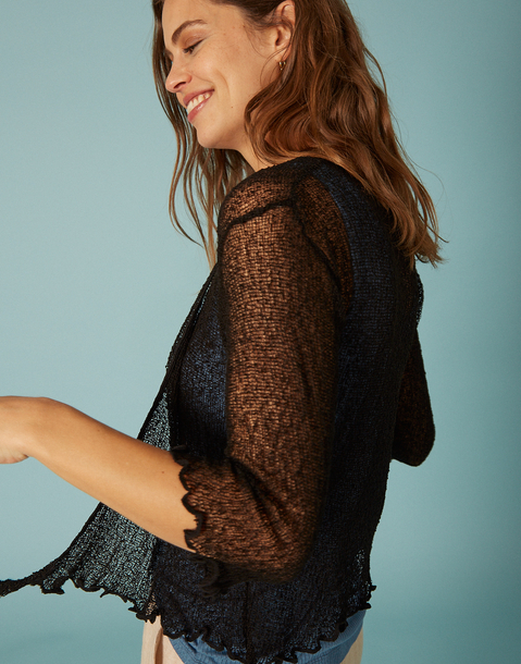 short sheer cardigan