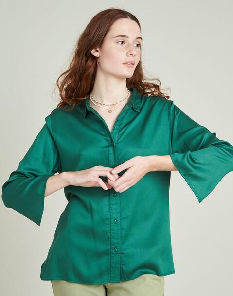 camisa m/l viscosa basica