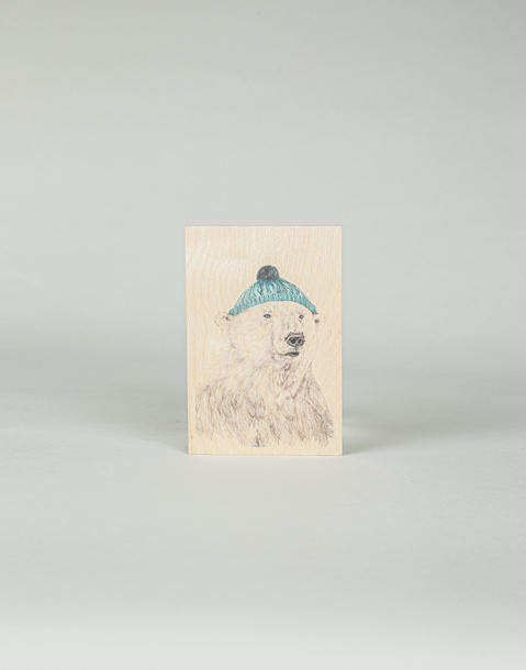 cartolina di legno