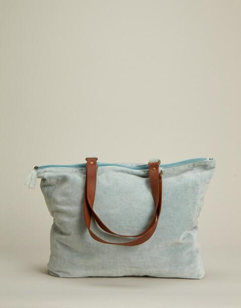 sac velours fermeture à glissière