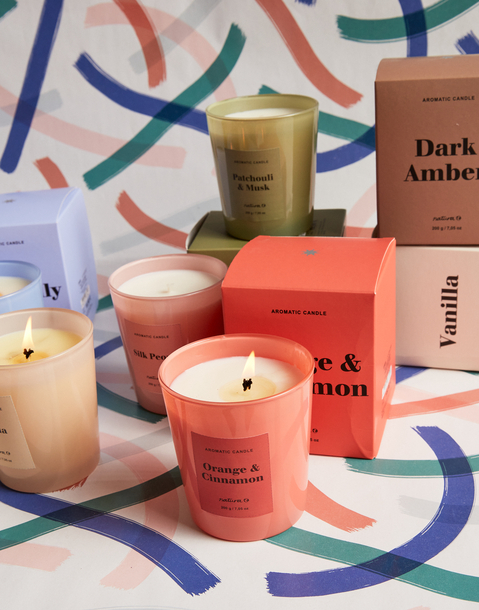 colors collection candle