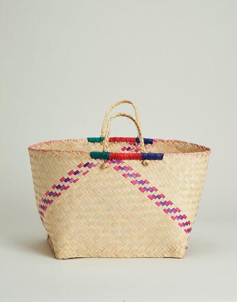 color trimming basket bag