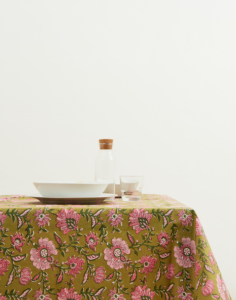 block print tablecloth 150x250