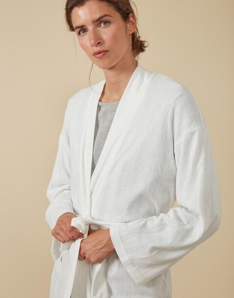 openwork dressing gown