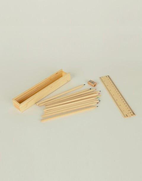 estuche madera con accesorios