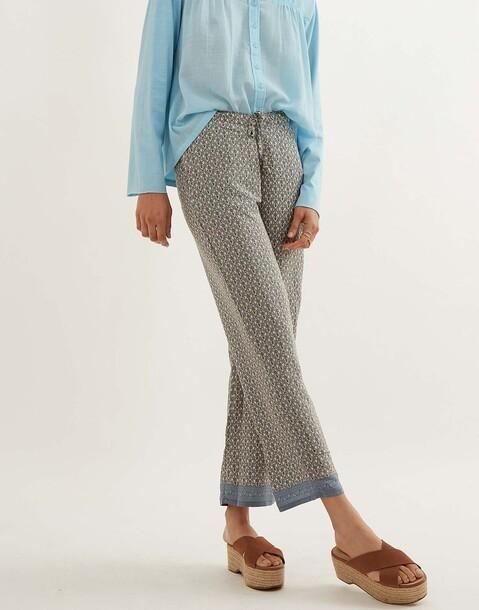 pantalon motifs soie