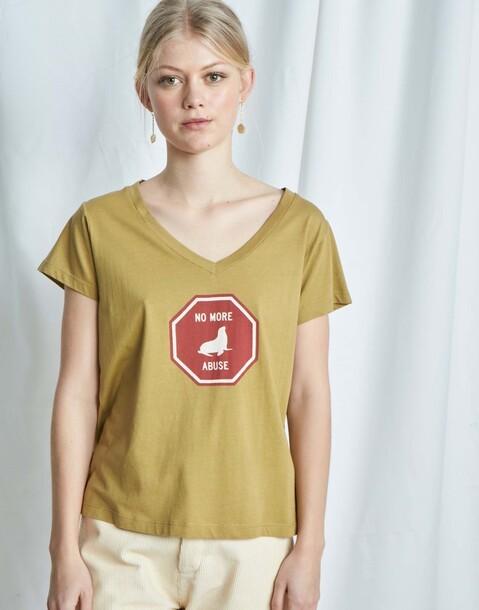 maglietta organica segnale stradale no more abuse
