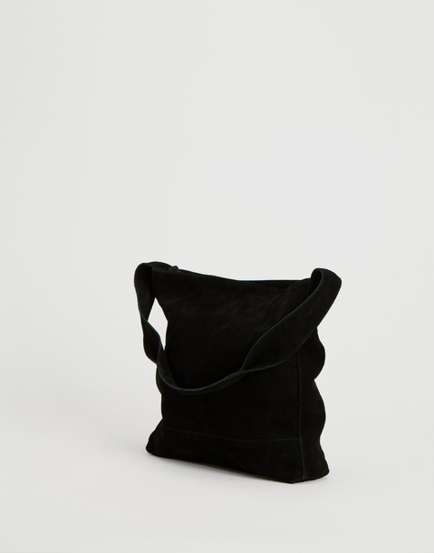 black leather purse