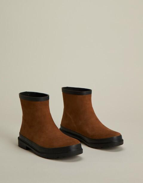 bottes de pluie effet cuir