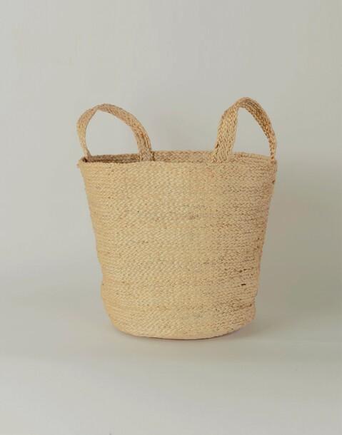 jute medium basket with handle