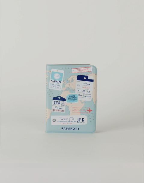 stamps passport holder