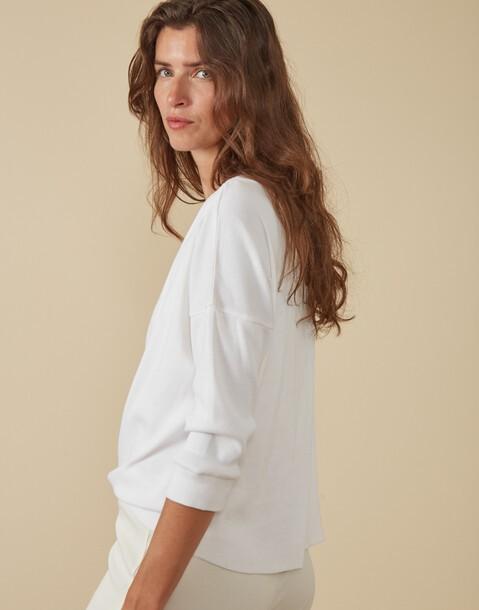 t-shirt manches longues côtelé