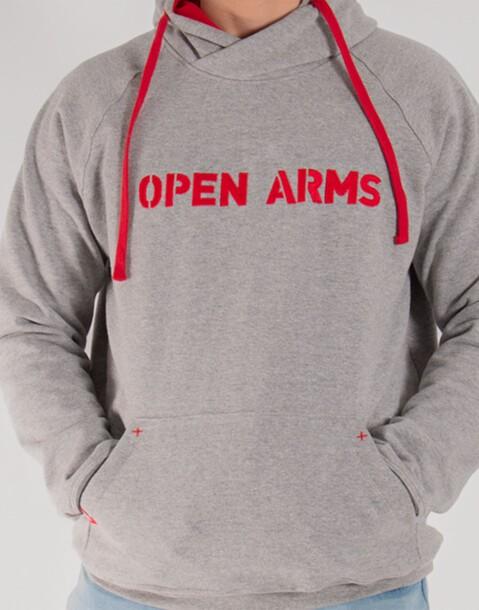 sudadera gris open arms