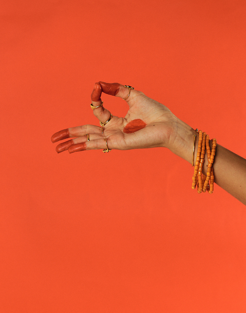 bracelet de cheville grosses perles