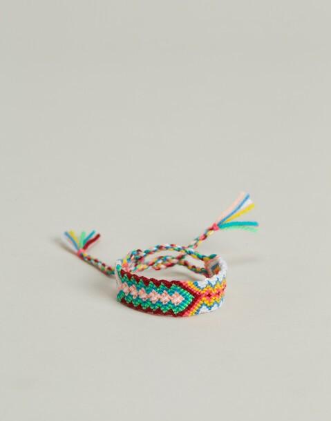 bracciale di corda intrecciata