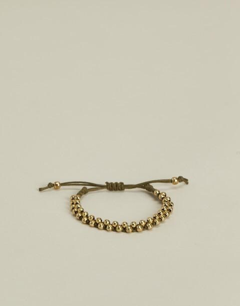 bracciale di corda grani metallo
