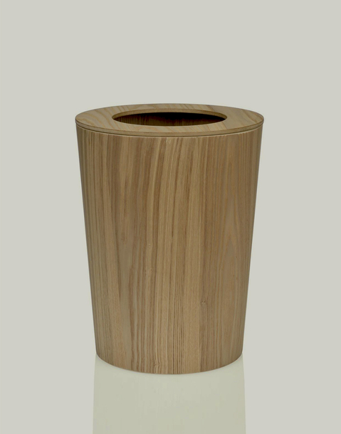 ash wood trash can
