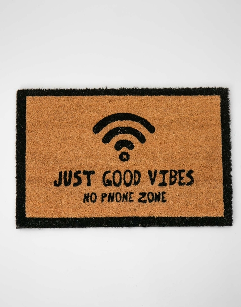 just good vibes doormat