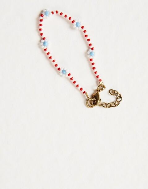 daisies beads bracelet
