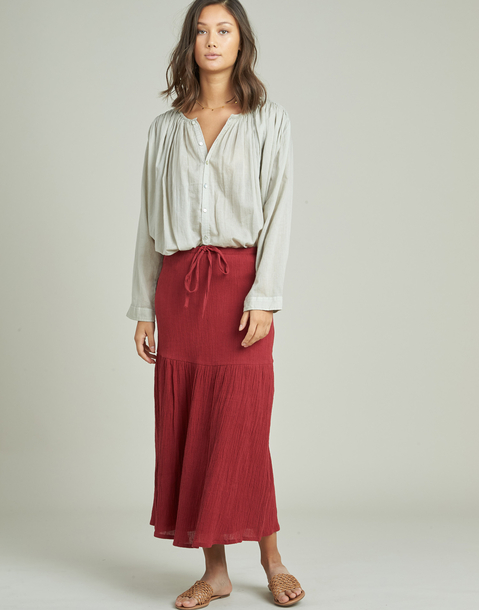 ankle-length skirt with seam