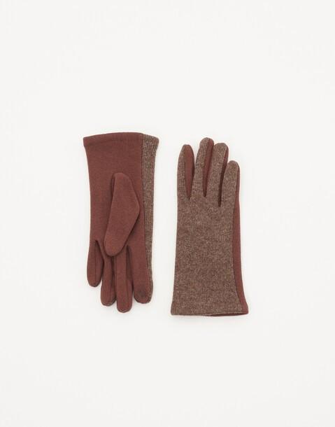 tech-handschuh aus rippenstrick
