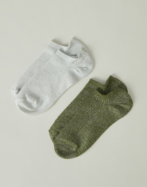 2 set lurex ankle socks