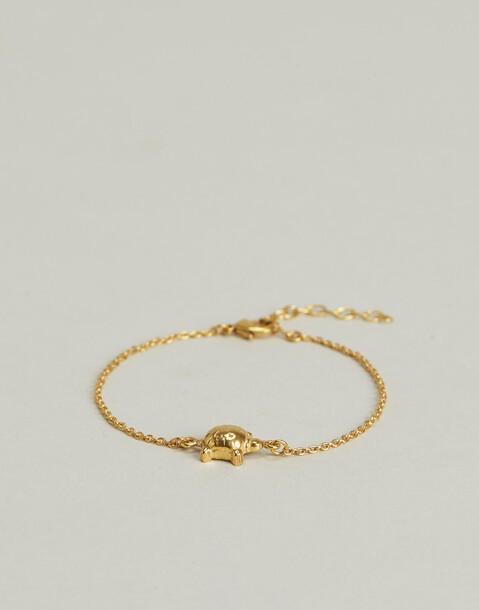 bracciale tartaruga placcato in oro