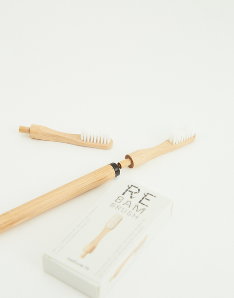 bamboo toothbrush head set of 2