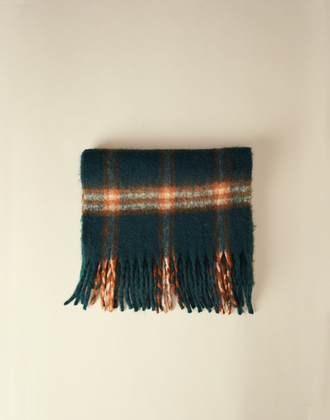 small plaid thick scarf