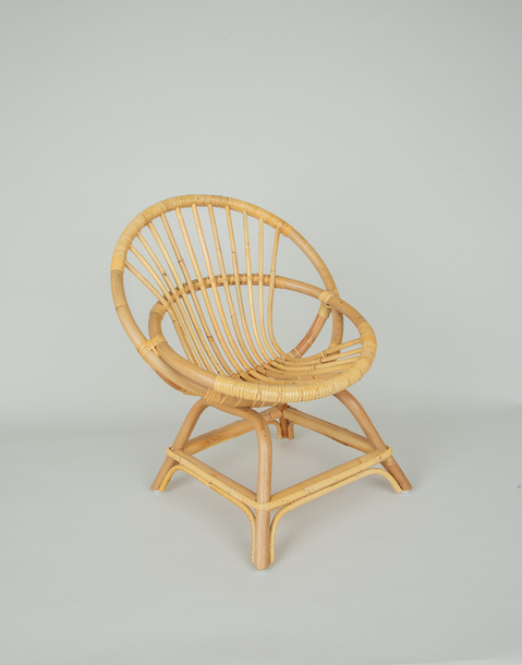 coquille child's rattan armchair