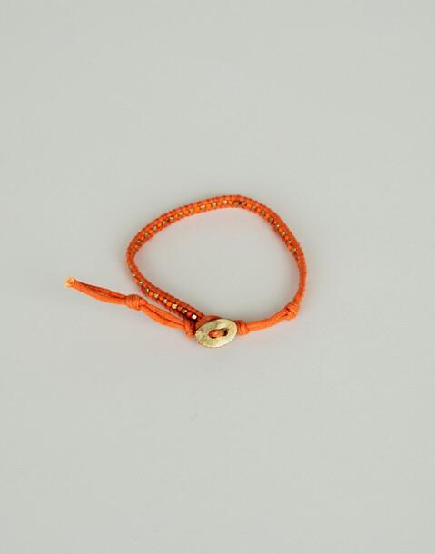 bracciale di corda con grani
