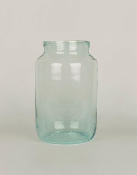 jarrón cristal grueso 18 x 30 cm