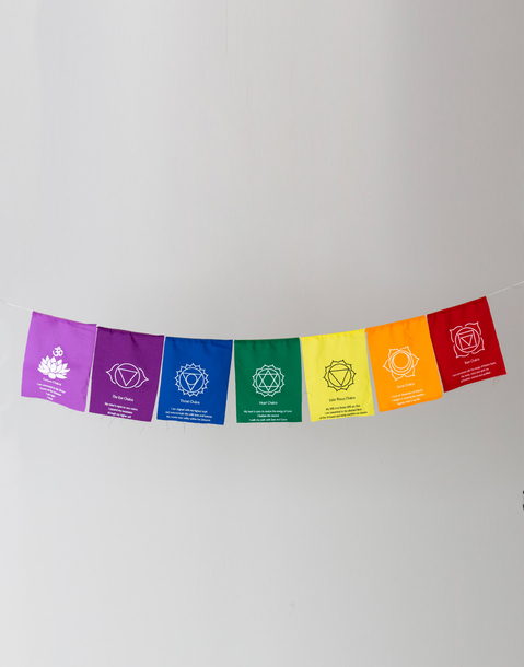 7 chakras prayer flags
