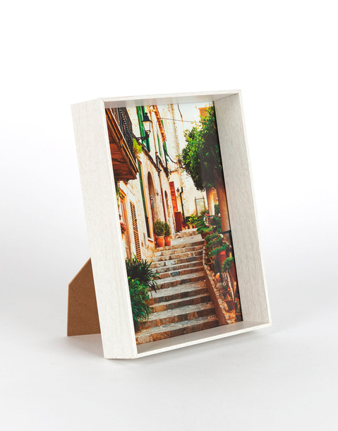 white wooden photo frame 15 x 20 cm