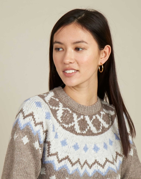 jacquard mountain sweater