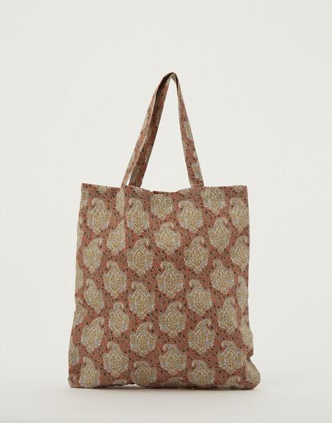 bolsa de lino estampada