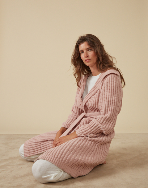 knit dressing gown
