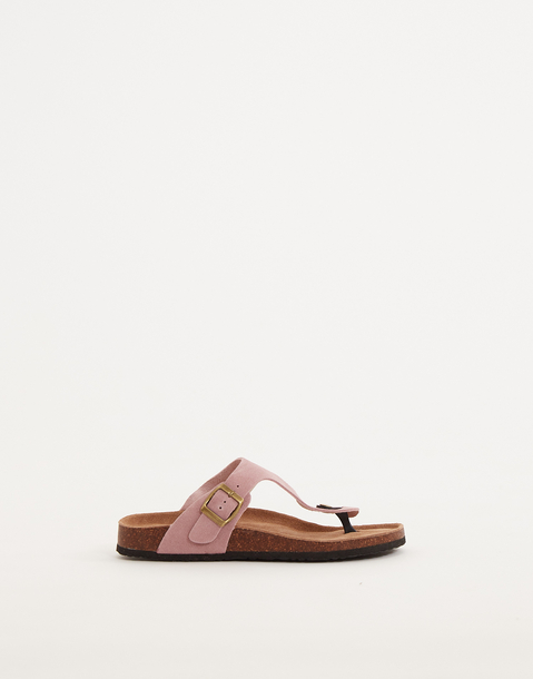 ergonomic leather thong sandal