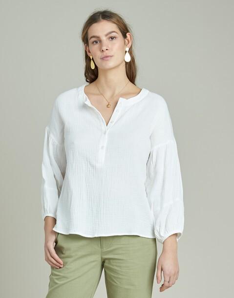 camisa panadera manga larga algodón