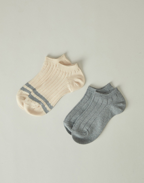 2 set stripes short socks