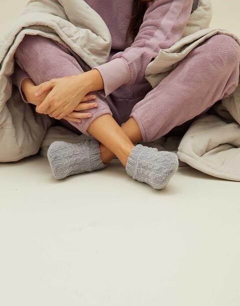 pantofole ciniglia intrecciata